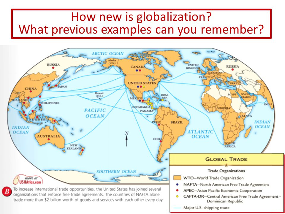 How new is globalization What previous examples can you remember