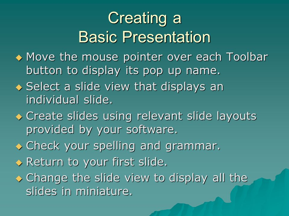 Creating a Basic Presentation