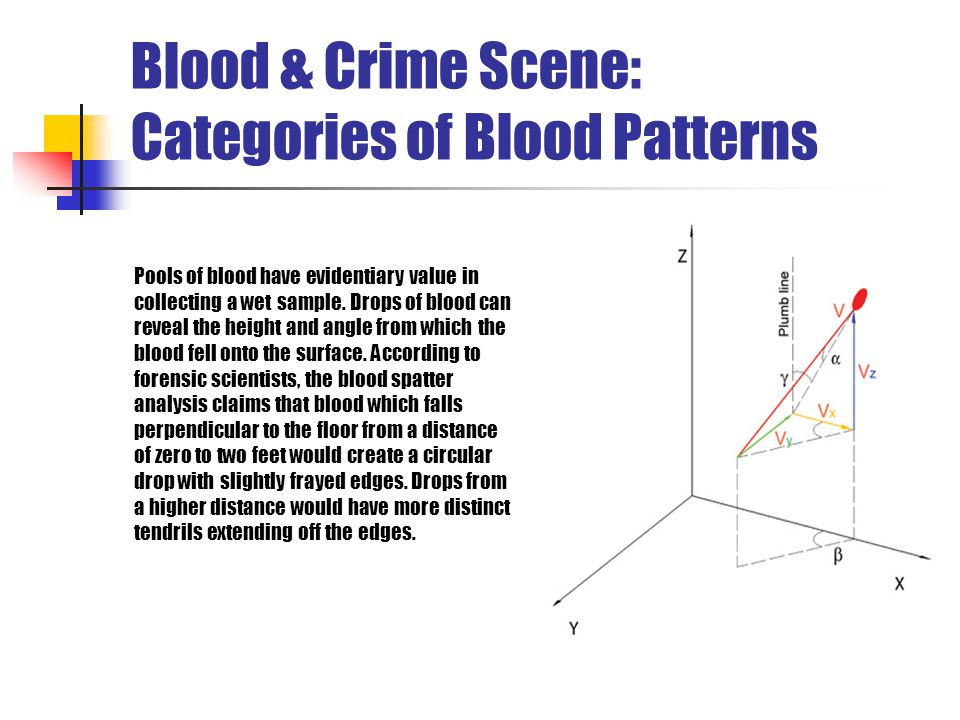 Blood & Crime Scene: Categories of Blood Patterns