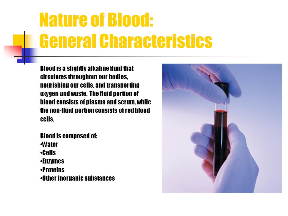 Nature of Blood: General Characteristics