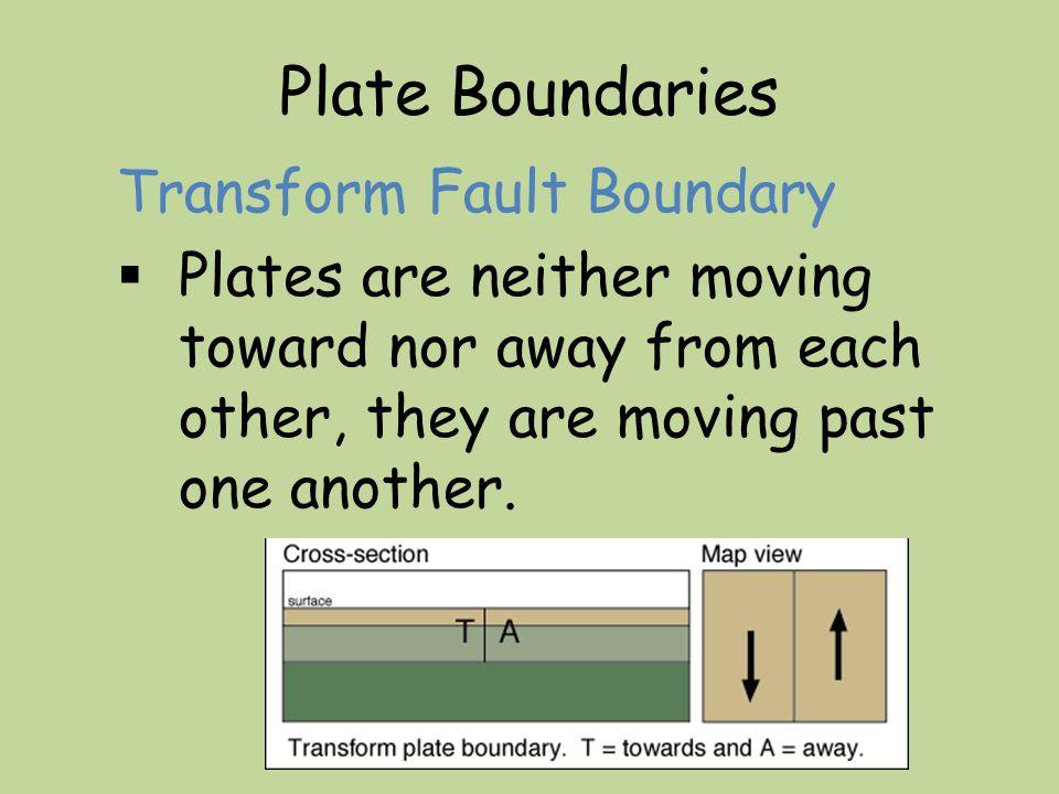 Plate Boundaries Transform Fault Boundary