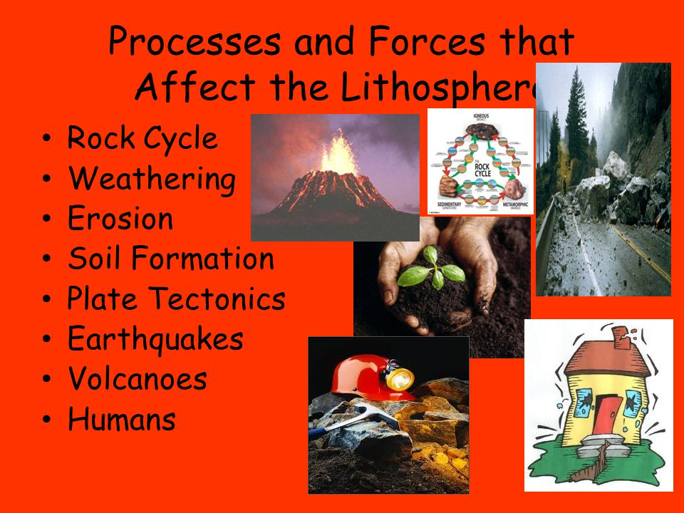 Processes and Forces that Affect the Lithosphere