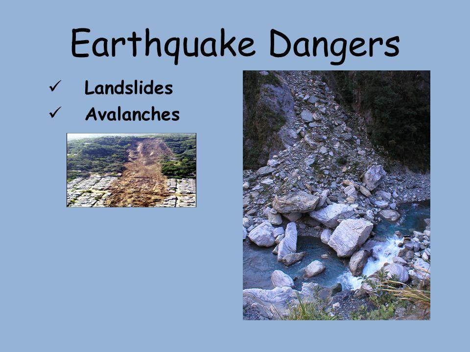 Earthquake Dangers Landslides Avalanches