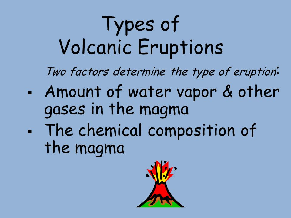 Types of Volcanic Eruptions