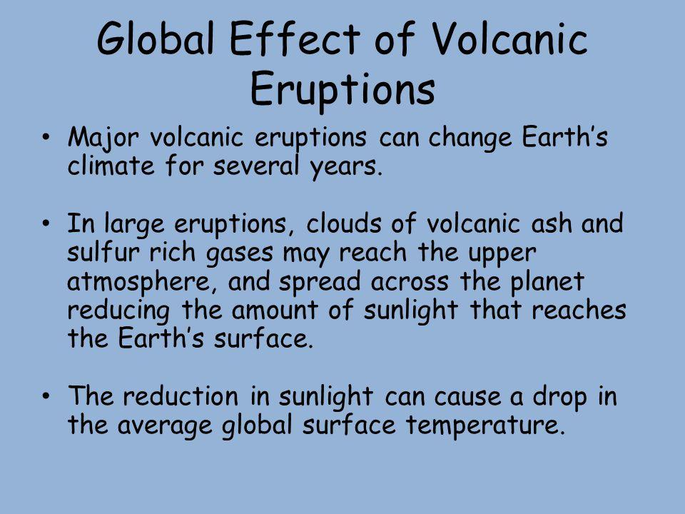 Global Effect of Volcanic Eruptions