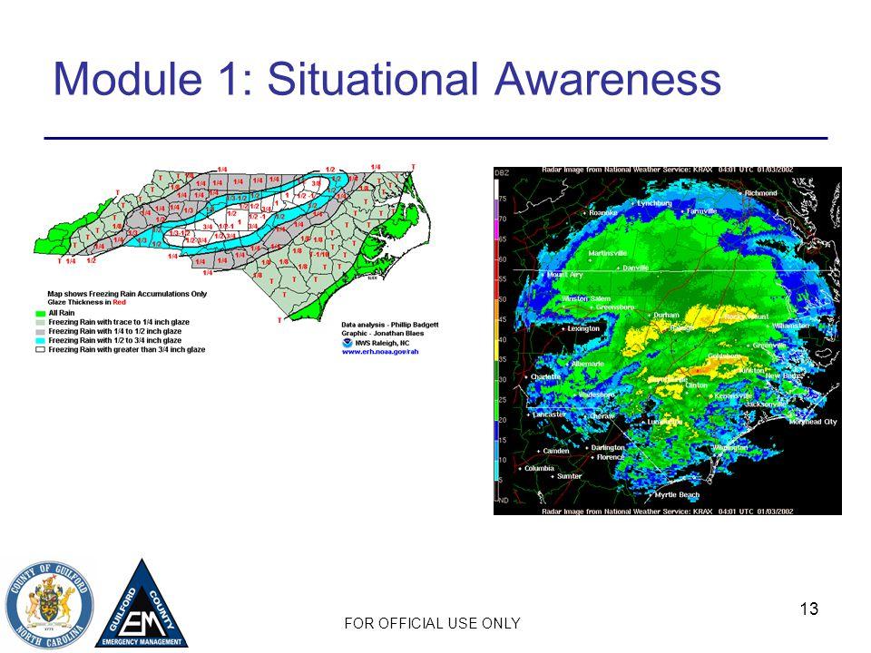 Module 1: Situational Awareness