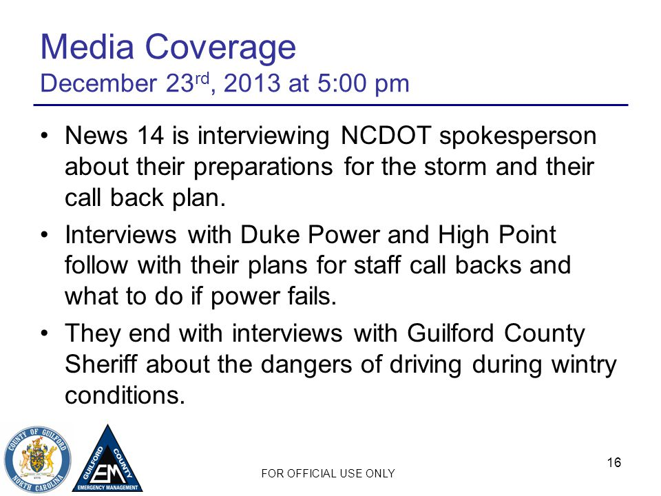 Media Coverage December 23rd, 2013 at 5:00 pm