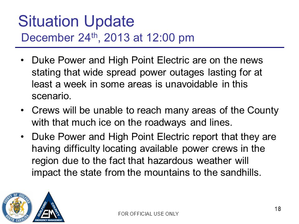 Situation Update December 24th, 2013 at 12:00 pm