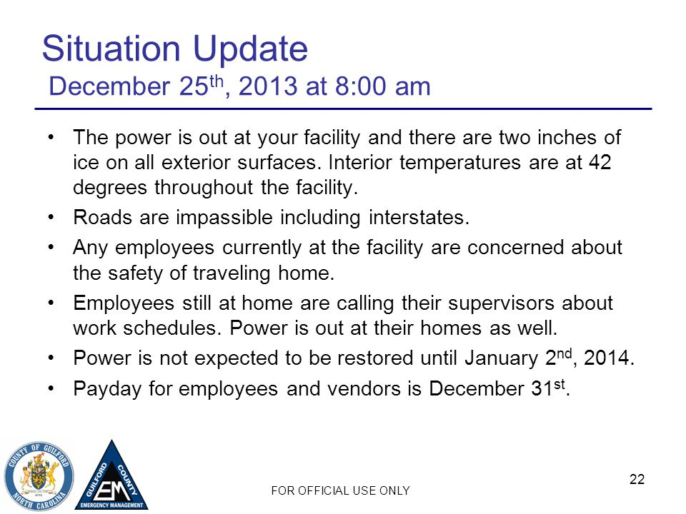 Situation Update December 25th, 2013 at 8:00 am