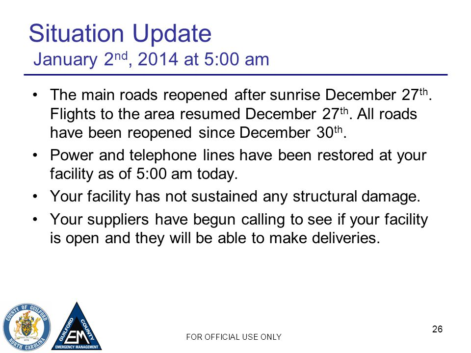 Situation Update January 2nd, 2014 at 5:00 am
