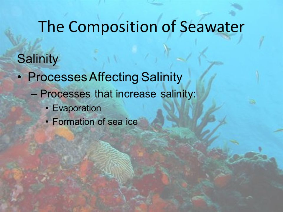 The Composition of Seawater