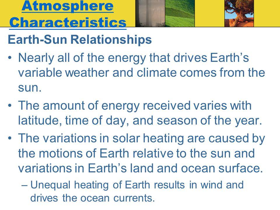 Atmosphere Characteristics