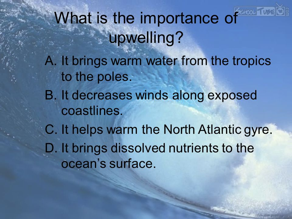 What is the importance of upwelling