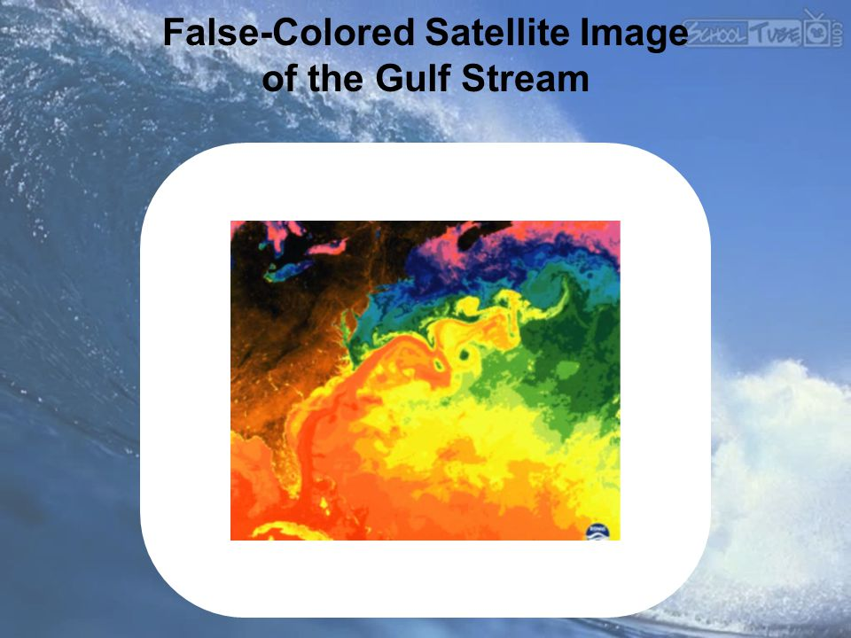 False-Colored Satellite Image of the Gulf Stream