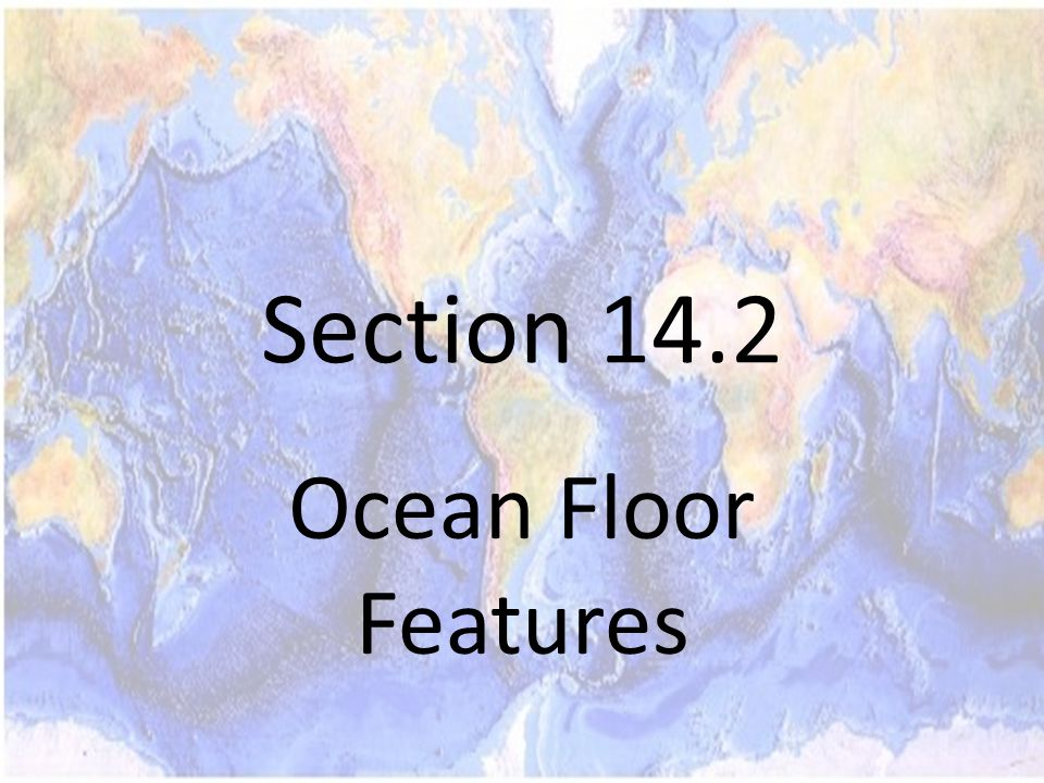 Section 14.2 Ocean Floor Features