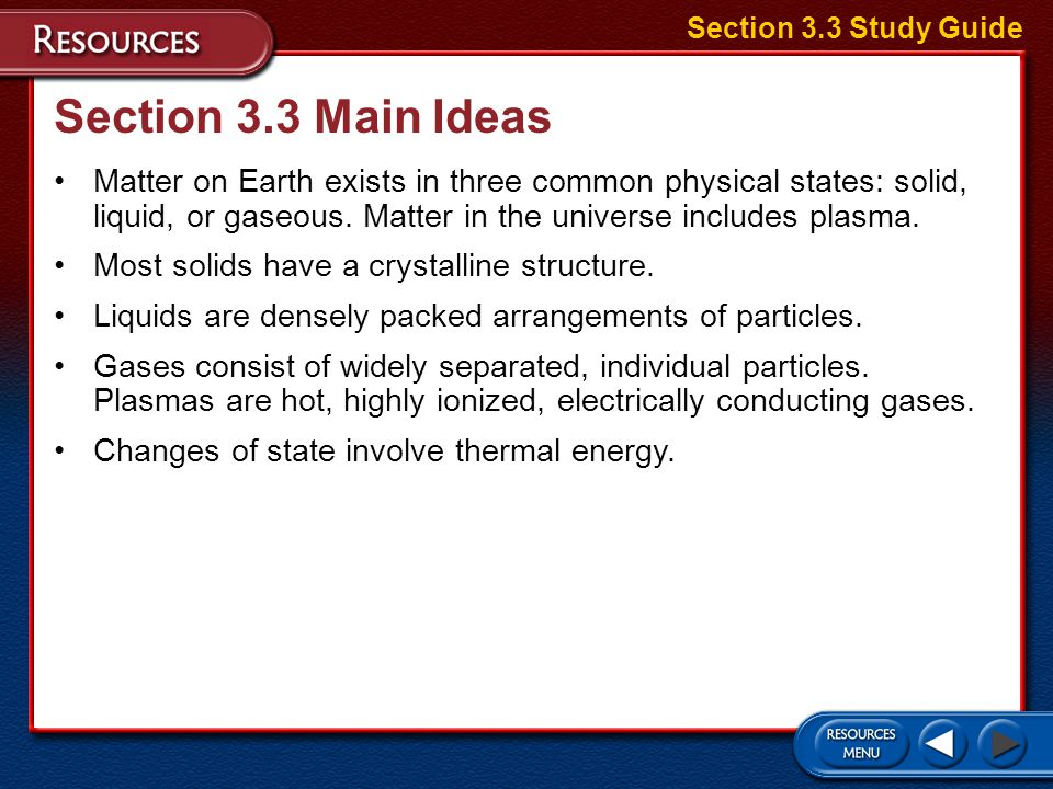Section 3.3 Study Guide Section 3.3 Main Ideas.