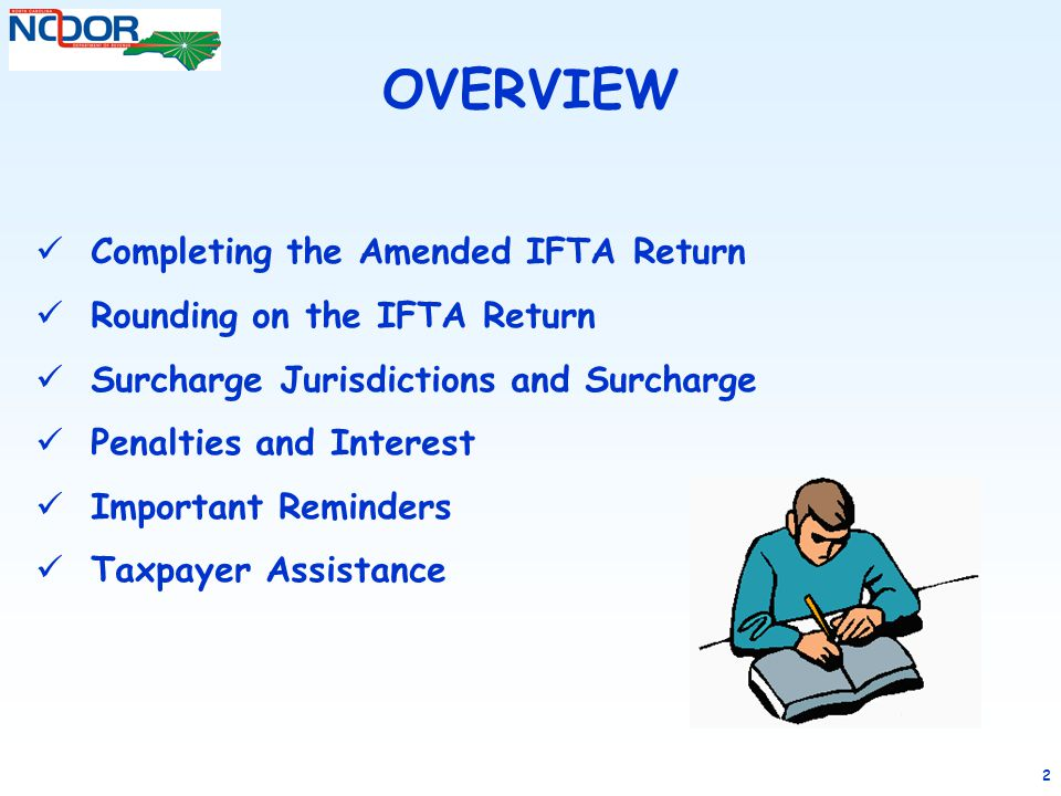 OVERVIEW Completing the Amended IFTA Return