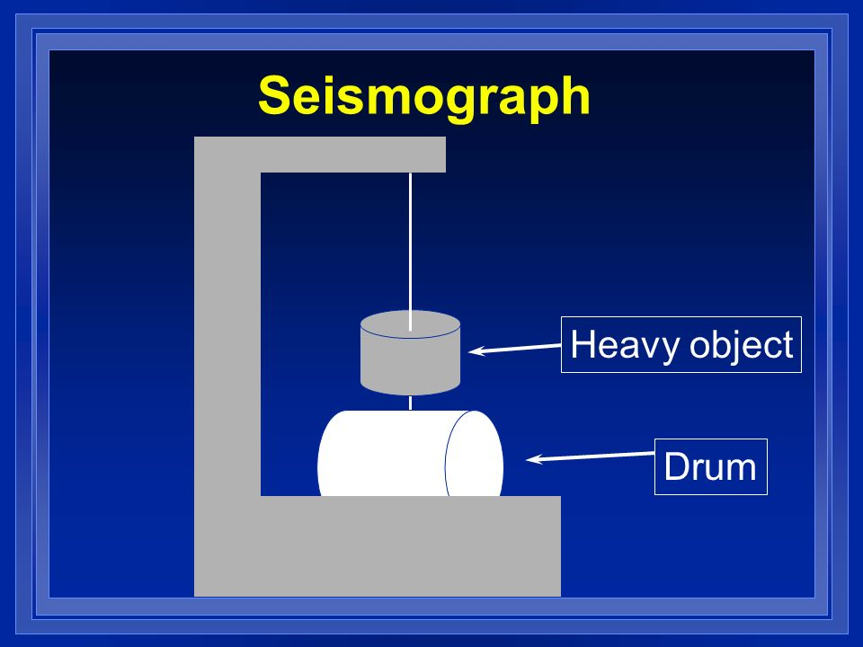 Seismograph Heavy object Drum