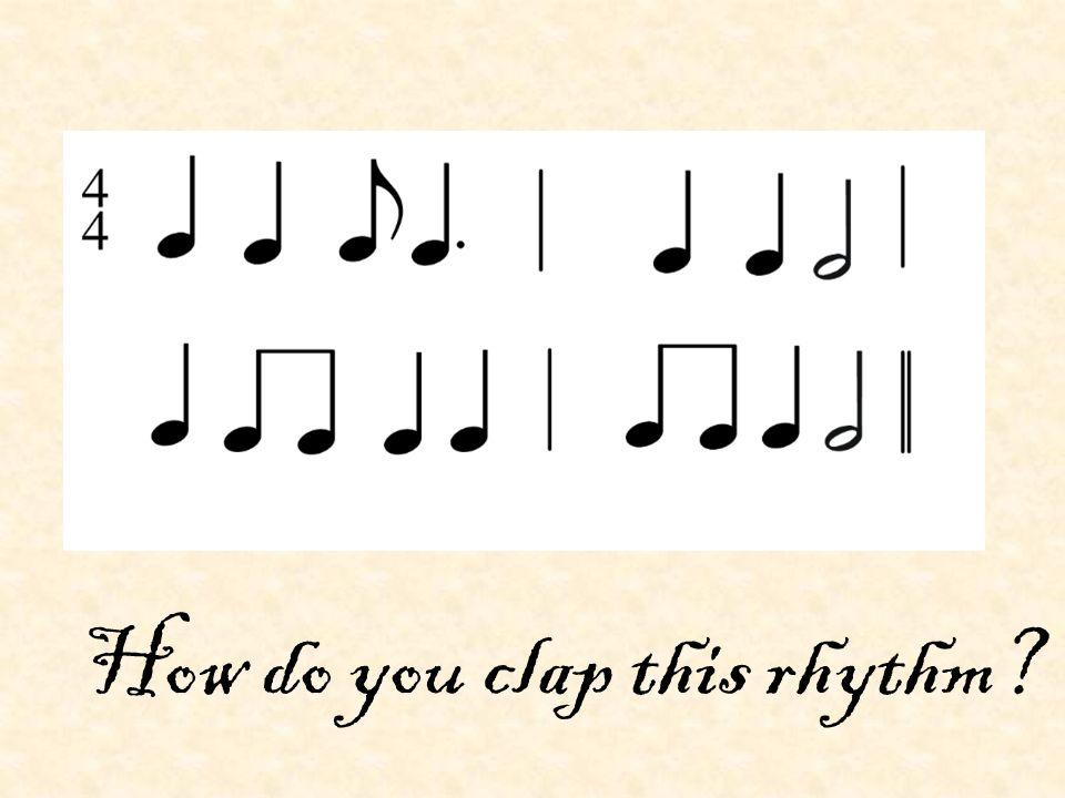 How do you clap this rhythm