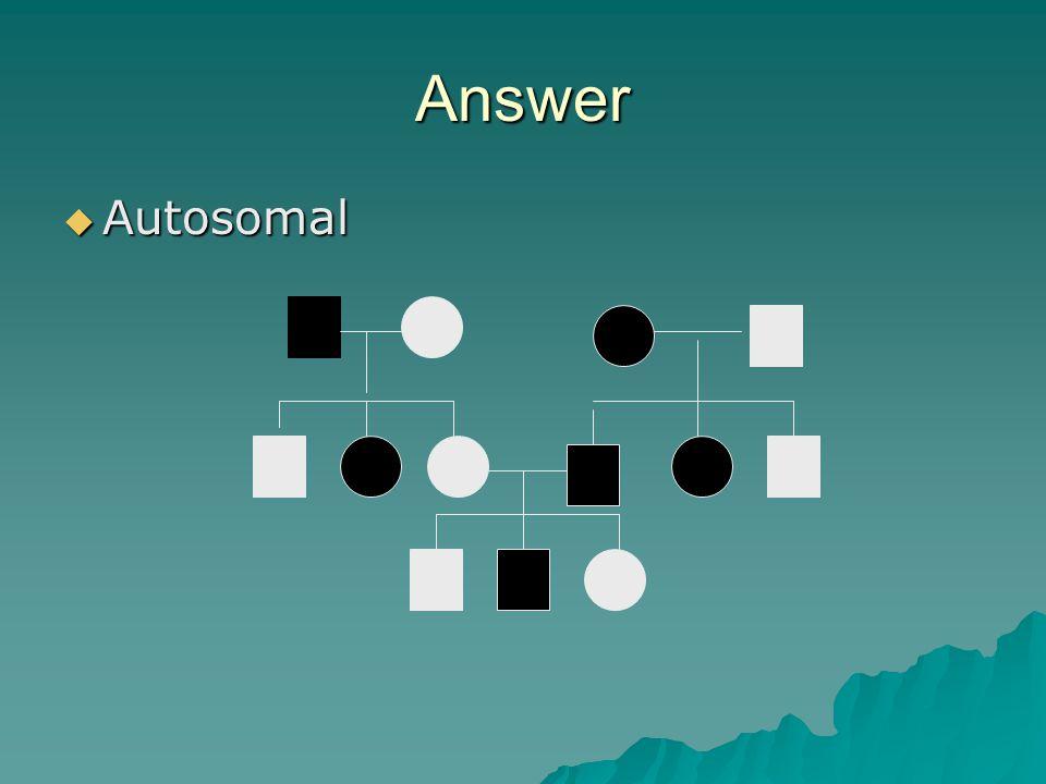 Answer Autosomal.