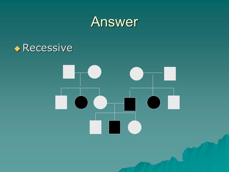Answer Recessive.