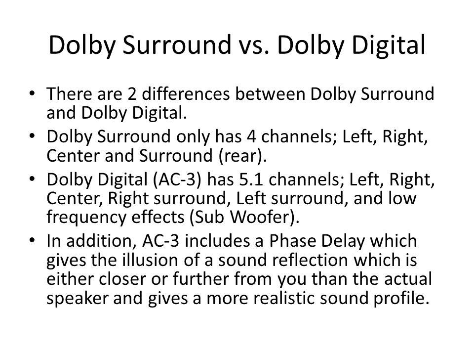 Dolby Surround vs. Dolby Digital