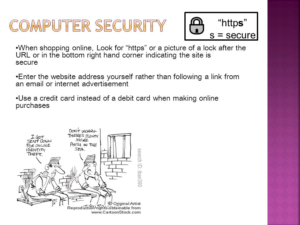 Computer security https s = secure