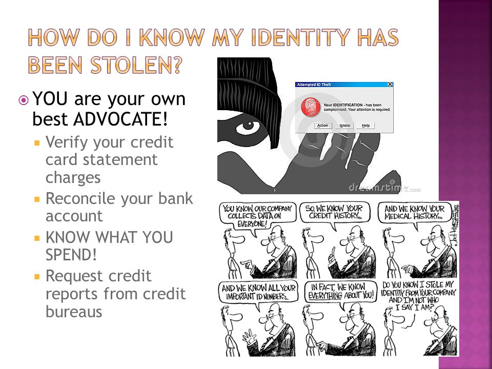 How do I know my identity has been stolen