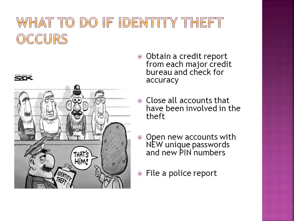What to Do if Identity Theft Occurs