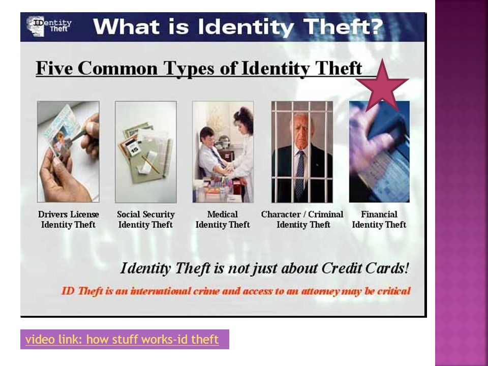video link: how stuff works-id theft