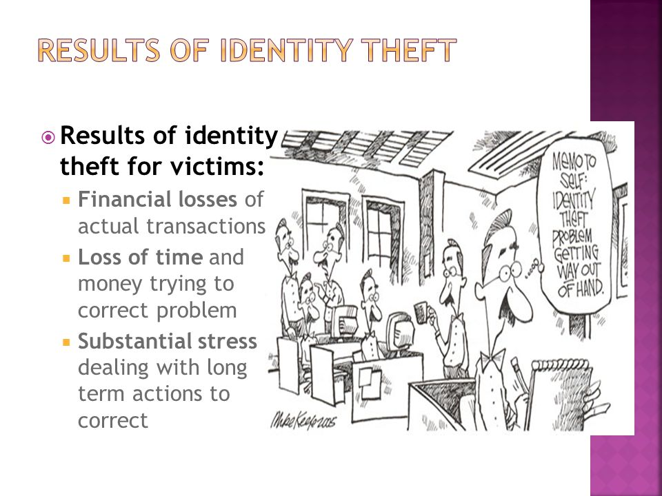 Results of Identity Theft