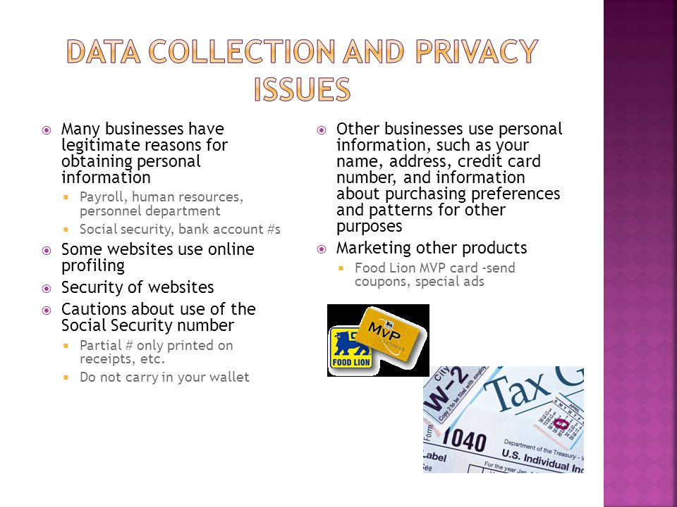 Data Collection and Privacy Issues