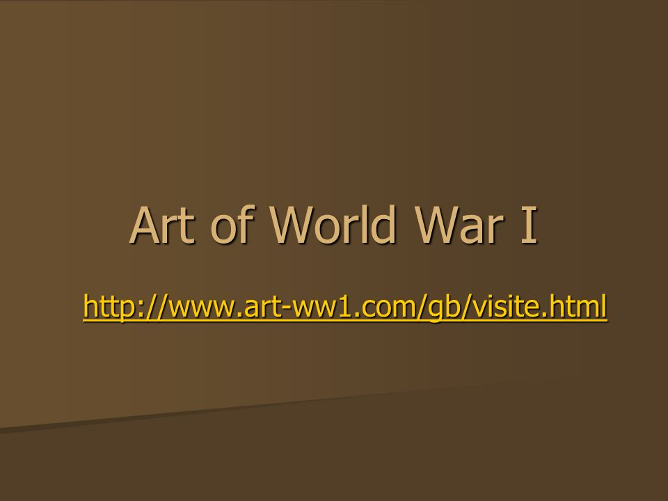 Art of World War I http://www.art-ww1.com/gb/visite.html