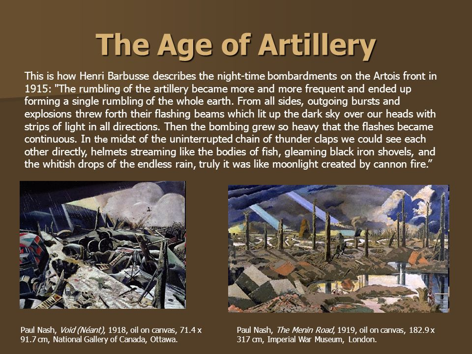 The Age of Artillery