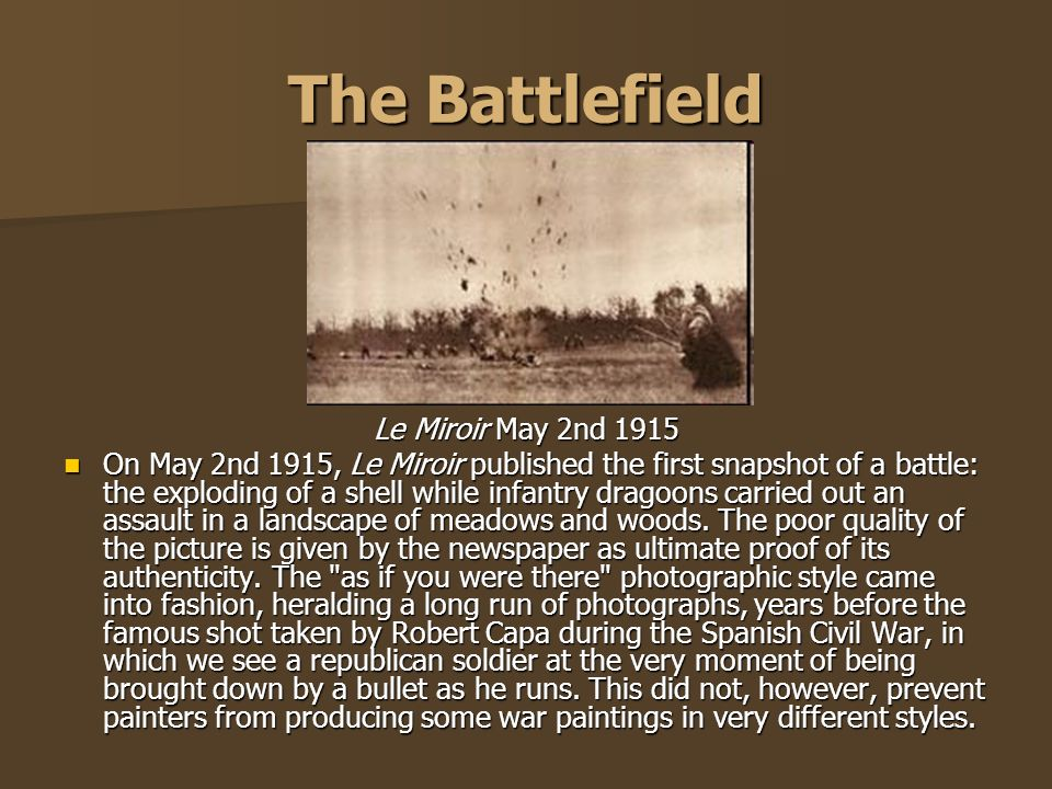 The Battlefield Le Miroir May 2nd 1915