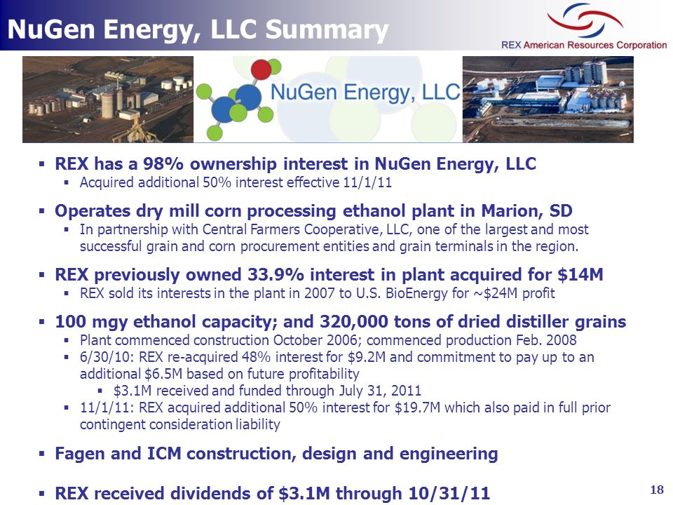 NuGen Energy, LLC Summary