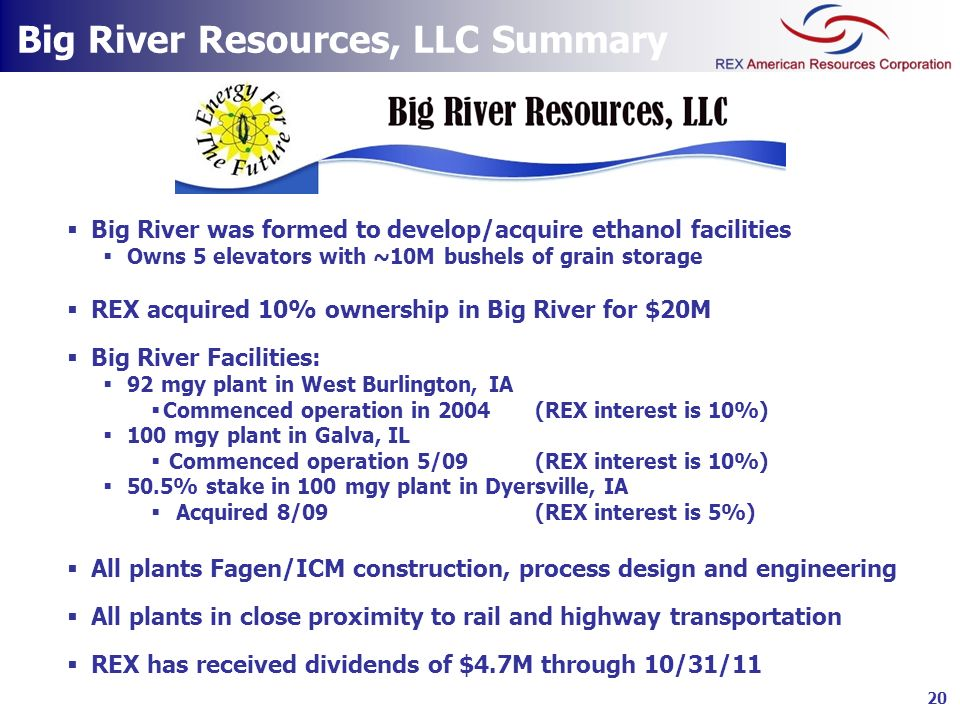 Big River Resources, LLC Summary