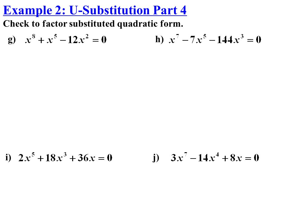 Example 2: U-Substitution Part 4