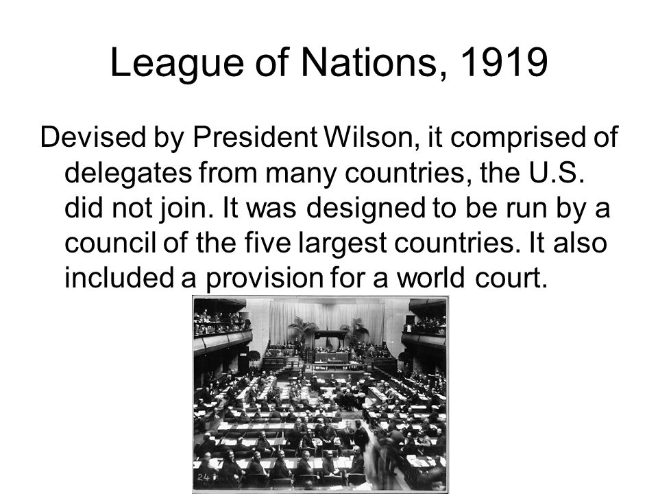 League of Nations, 1919