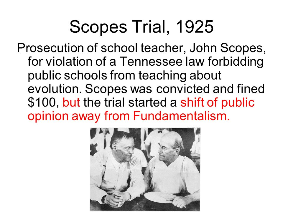 Scopes Trial, 1925