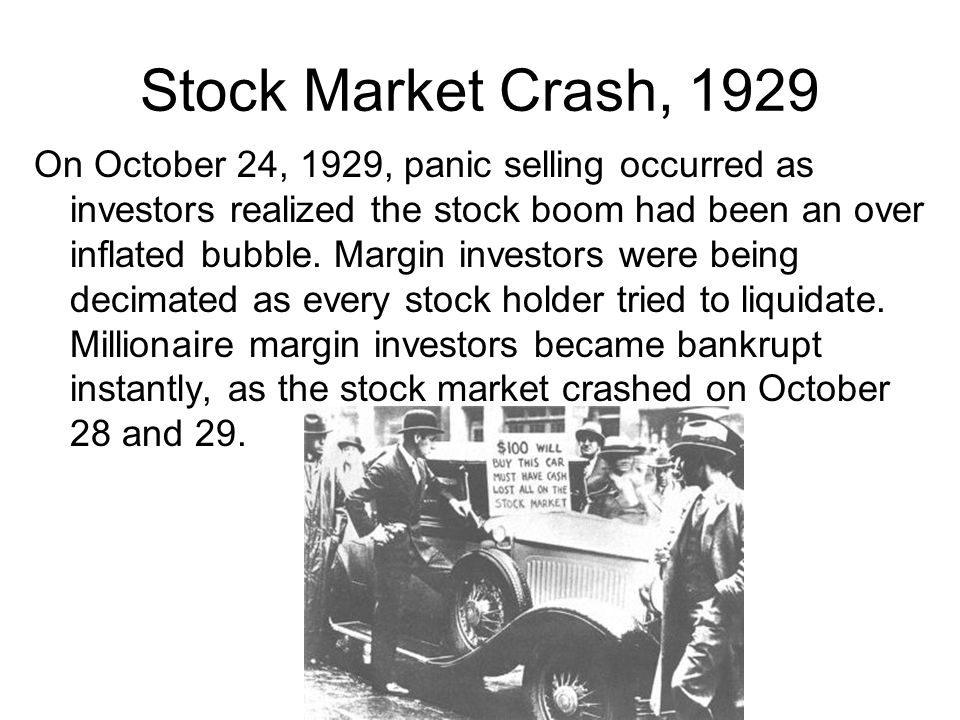 Stock Market Crash, 1929