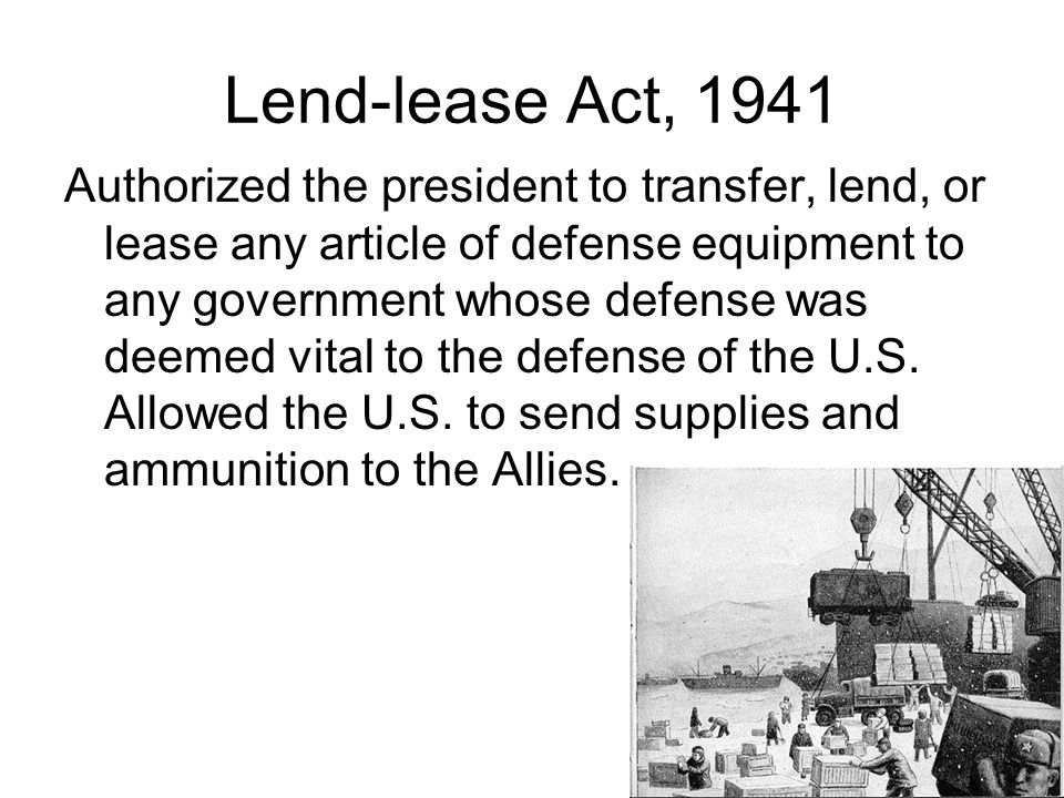 Lend-lease Act, 1941