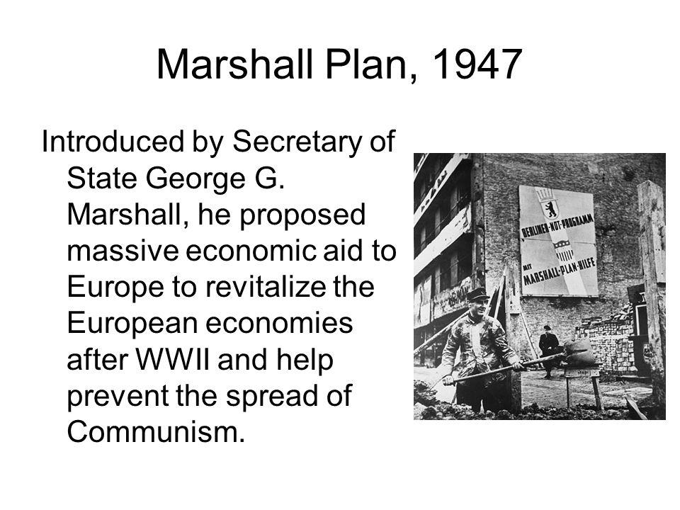 Marshall Plan, 1947