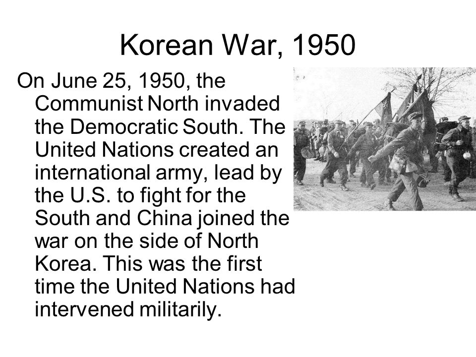 Korean War, 1950