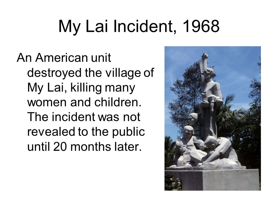 My Lai Incident, 1968