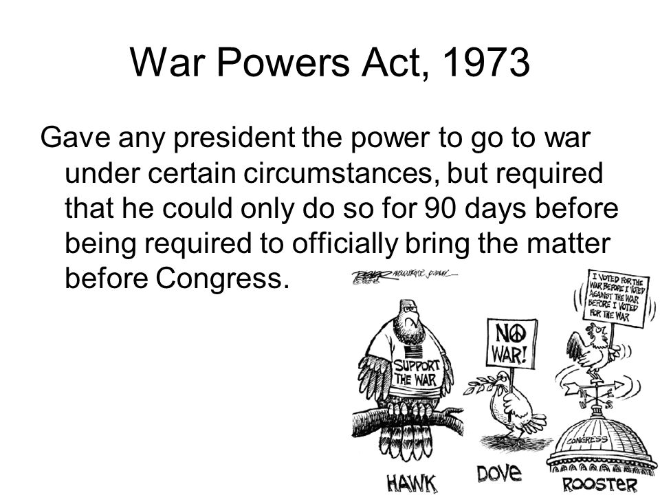 War Powers Act, 1973