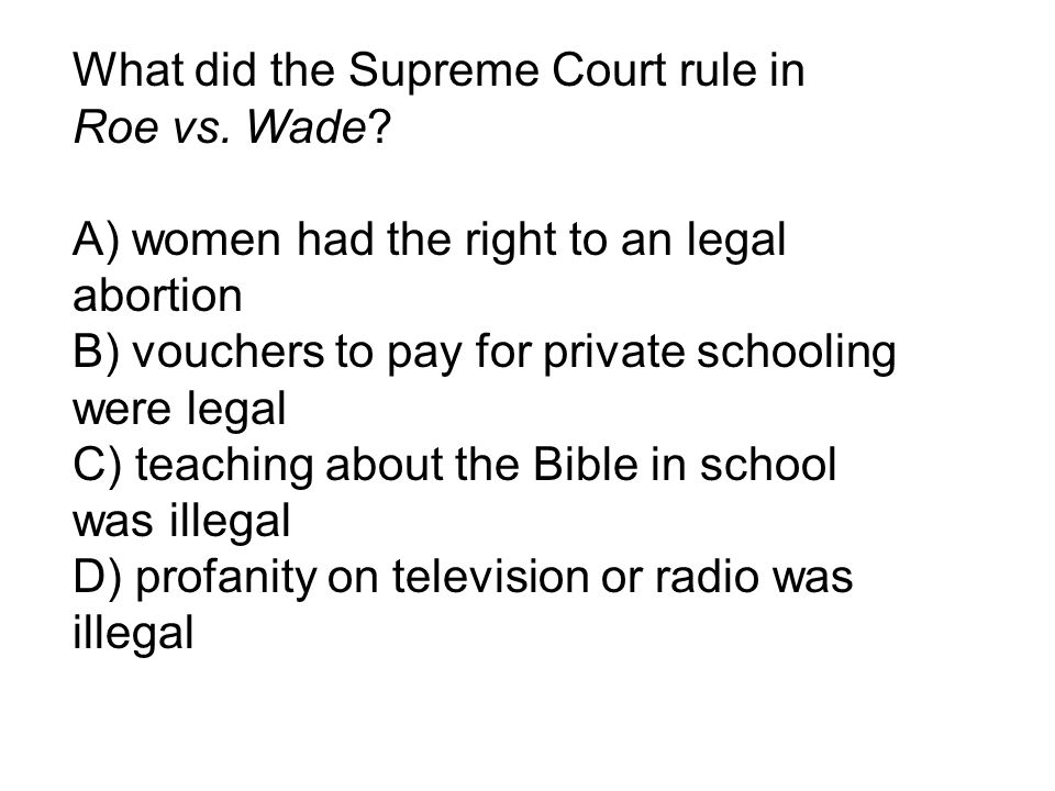 What did the Supreme Court rule in
