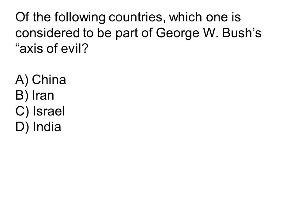 Of the following countries, which one is