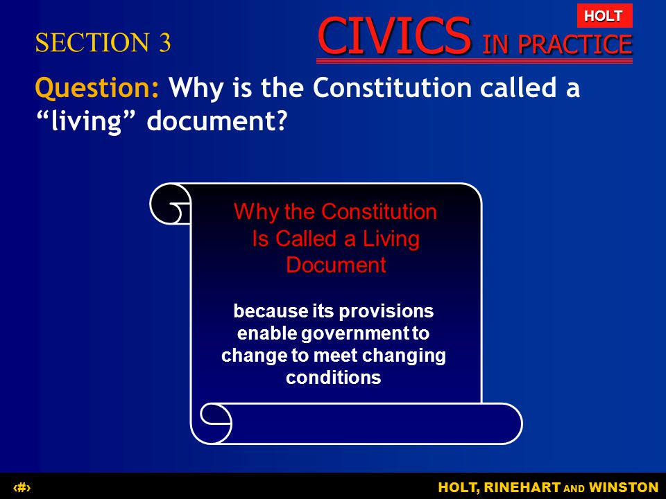 Why the Constitution Is Called a Living Document