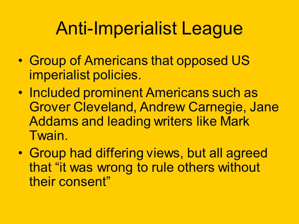 Anti-Imperialist League